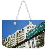 Collins Avenue Weekender Tote Bag