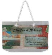 Colm Irish Name Plate Weekender Tote Bag