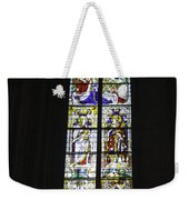 Cologne Cathedral Stained Glass Window Coronation Of The Virgin Weekender Tote Bag