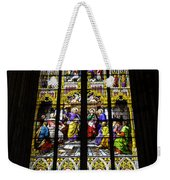 Cologne Cathedral Stained Glass Window Of St Peter Weekender Tote Bag