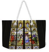 Cologne Cathedral Stained Glass Window Of The Adoration Of The Magi Weekender Tote Bag