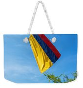 Colombian Flag And Blue Sky Weekender Tote Bag