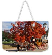 Carriage In Autumn Weekender Tote Bag