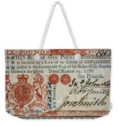 Colonial Currency, 1776 Weekender Tote Bag