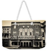 Colonial Theater In Phoenixville In Sepia Weekender Tote Bag