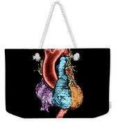 Color Enhanced 3d Ct Of Heart Weekender Tote Bag