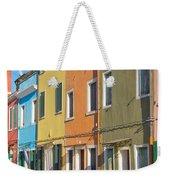 Color Houses In Row Weekender Tote Bag