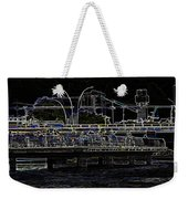 Color Pencil - Visitors On Viewing Plaza On Singapore River Next To The Merlion Weekender Tote Bag