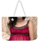 Color Portrait Young Pregnant Spanish Woman I Weekender Tote Bag
