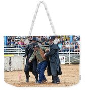 Color Rodeo Shootout Deputies Arrest Outlaw Weekender Tote Bag