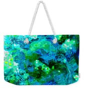 Color Wash Abstract In Blue Weekender Tote Bag