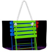 Colorful Cafe Chairs Weekender Tote Bag