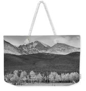 Colorado America's Playground In Black And White Weekender Tote Bag