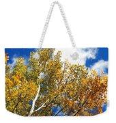 Colorado Aspens And Blue Skies Weekender Tote Bag