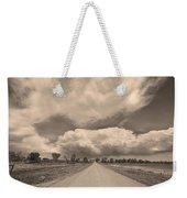 Colorado Country Road Sepia Stormin Skies Weekender Tote Bag