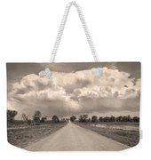 Colorado Country Road Stormin Sepia  Skies Weekender Tote Bag