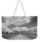 Colorado Country Road Stormin Skies Bw Weekender Tote Bag