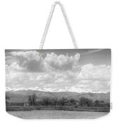 Colorado Front Range Rocky Mountains Panorama Bw Weekender Tote Bag