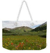 Colorado Meadow And Mountain Landscape Weekender Tote Bag