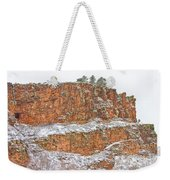 Colorado Red Sandstone Country Dusted With Snow Weekender Tote Bag