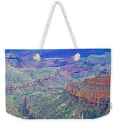 Colorado River From Walhalla Overlook On North Rim Of Grand Canyon-arizona Weekender Tote Bag