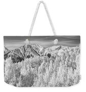 Colorado Rocky Mountain Autumn Beauty Bw Weekender Tote Bag