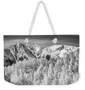 Colorado Rocky Mountain Autumn Magic Black And White Weekender Tote Bag