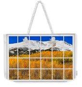 Colorado Rocky Mountain Autumn Pass White Window View  Weekender Tote Bag