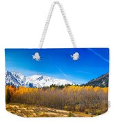 Colorado Rocky Mountain Independence Pass Autumn Pano 1 Weekender Tote Bag