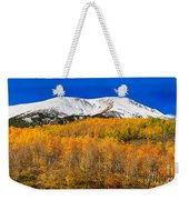 Colorado Rocky Mountain Independence Pass Autumn Pano 2 Weekender Tote Bag