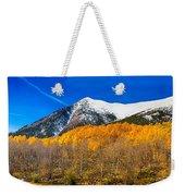 Colorado Rocky Mountain Independence Pass Autumn Panorama Weekender Tote Bag