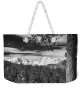 Colorado Rocky Mountain View Black And White Weekender Tote Bag