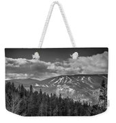 Colorado Ski Slopes In Black And White Weekender Tote Bag