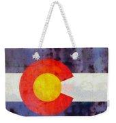 Colorado State Flag Weathered And Worn Weekender Tote Bag