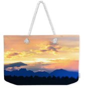 Colorado Sunset Weekender Tote Bag