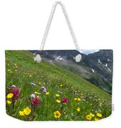 Colorado Wildflowers And Mountains Weekender Tote Bag by Cascade Colors
