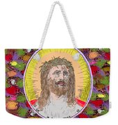 Colored Background Jesus Weekender Tote Bag