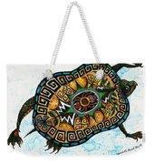 Colored Cultural Zoo C Eastern Woodlands Tortoise Weekender Tote Bag