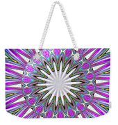 Colored Foil Lily Kaleidoscope Under Glass Weekender Tote Bag