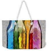 Colored Glass Bottles Weekender Tote Bag