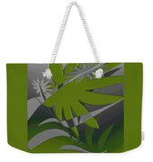 Colored Jungle Green Weekender Tote Bag