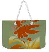 Colored Jungle Orange Splash Weekender Tote Bag