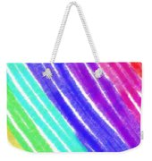 Colored Lines Weekender Tote Bag
