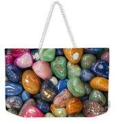 Colored Polished Rocks Weekender Tote Bag