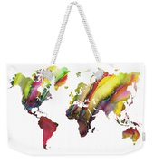 Colored World Map Weekender Tote Bag