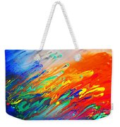 Colorful Abstract Acrylic Painting Weekender Tote Bag