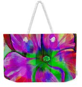 Colorful African Violet Weekender Tote Bag