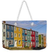 Colorful Apartment Buildings In Saint John's-nl Weekender Tote Bag