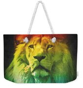 Colorful Artistic Portrait Of A Lion On Black Background  Weekender Tote Bag