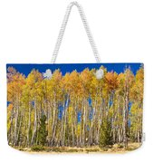 Colorful Aspen Panorama Weekender Tote Bag